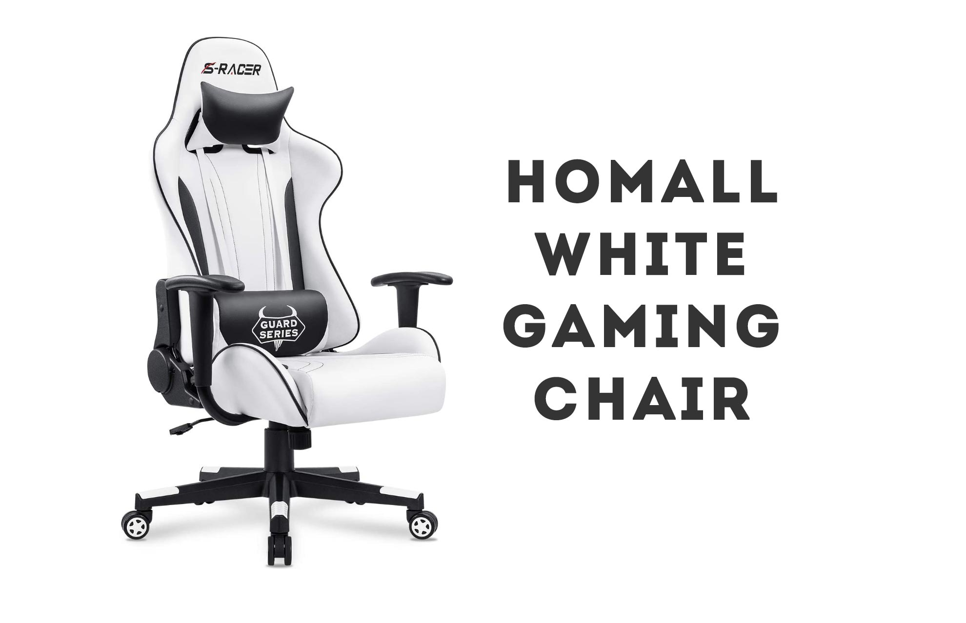 Homall White Gaming Chair